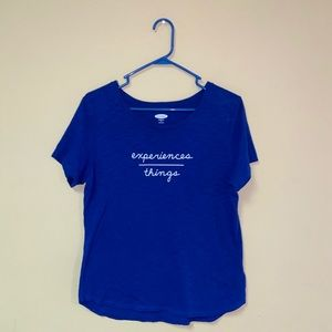 Old Navy Royal Blue EveryWear Graphic Tee